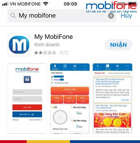 Ứng dụng My Mobifone trên Google play và Apple Store